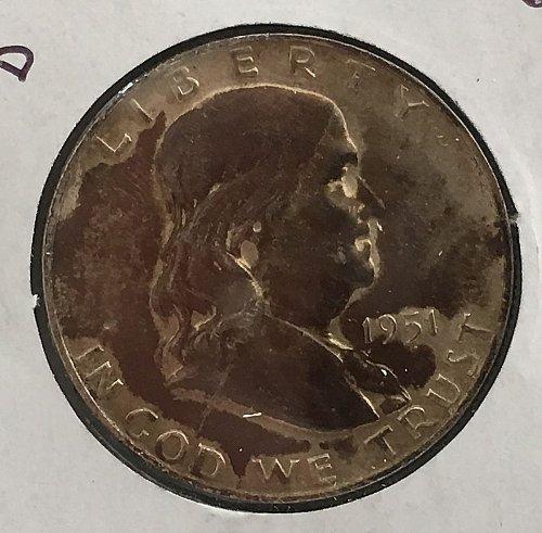 1951 D Franklin Half Dollar  ***Unique Purple Toning***