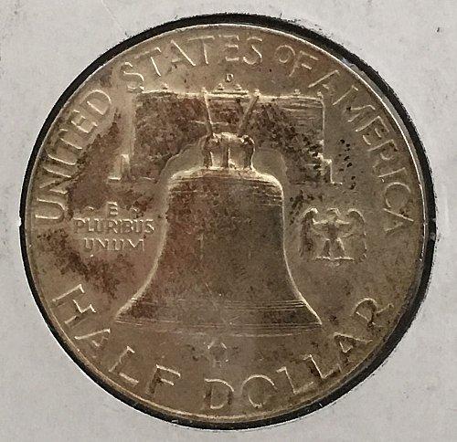 1951 D Franklin Half Dollar  *** Purple Toning - FBL ***