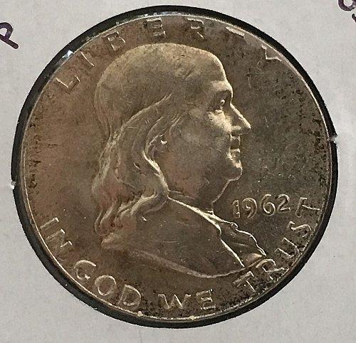 1962 P Franklin Half Dollar