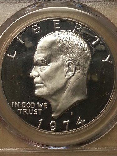 1974-S Ike Dollar PCGS PR69 DCAM