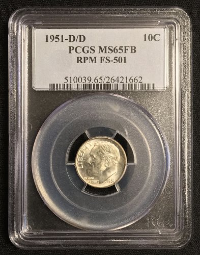 1951 D/D RPM FS-501 MS65FB PCGS graded
