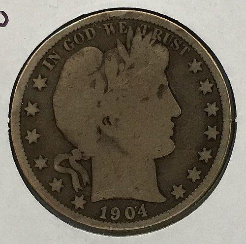 1904 O Barber Half Dollar