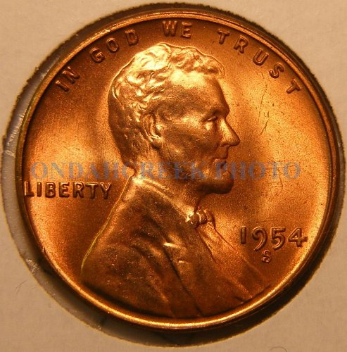 1954-S Lincoln Cent RPM #2 GEM Stage C