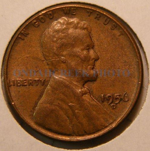 1956-D Lincoln Cent RPM #1 FS-501 (22.1) AU-55