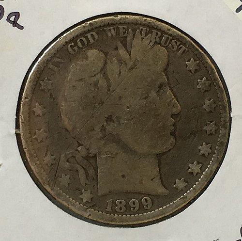 1899 P Barber Half Dollar