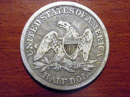 1853-P Liberty Seated Half, Arrows & Rays type - VF