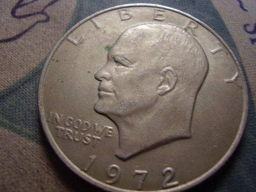 1972 High relief type 3 Eisenhower Clad Dollar
