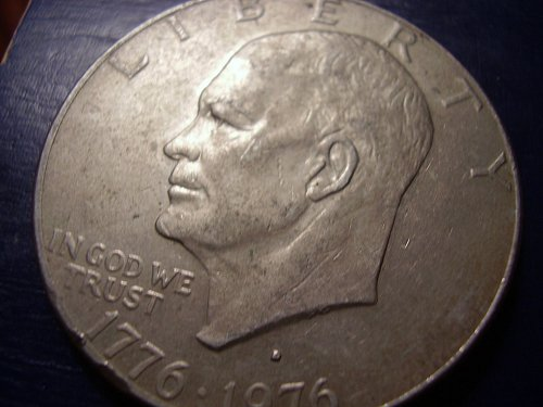 1976   D Eisenhower Type 2 High Relief Dollar