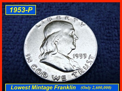 1953-P  Franklin Half Dollar ––– Circulated (#1326)