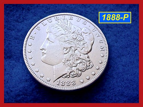 1888-P Morgan Silver Dollar 🎯 Circulated with XF-AU Design Details    (#5181)