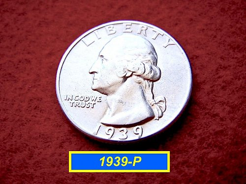 "1939-P Washington Quarter ⭕️ ""Circulated XF Condition"" (#2230)"