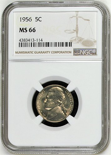 1956-P Jefferson Nickel - MS66