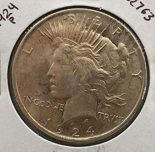 1924 P Peace Dollar