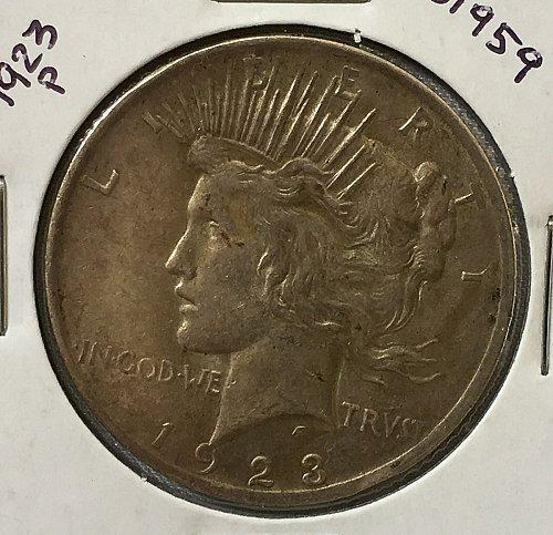 1923 P Peace Dollar - Toned