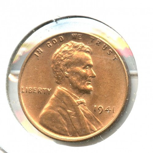 1941 Lincoln Cent BU Bronze Philadelphia