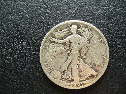 1921 - S Walking Liberty Half Dollar