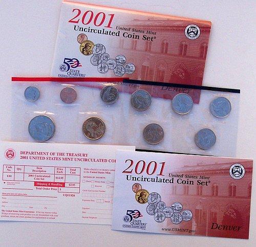 2001 20 PIECE MINT SET IN ORIGINAL ENVELOPES