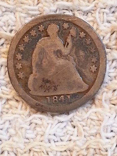 1841 Seated Liberty Half Dime