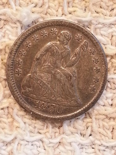 1850 Seated Liberty Half Dime