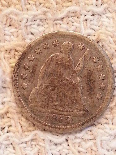 1852 Seated Liberty Half Dime
