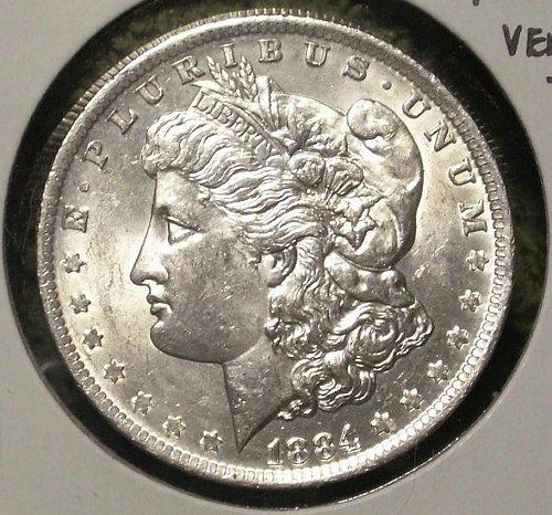 1884 O Morgan Silver Dollar Vam 15 Unc