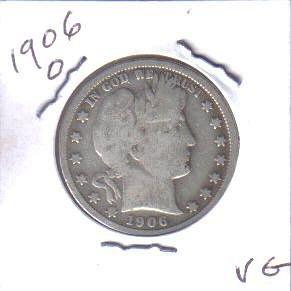 1906 O  BARBER HALF DOLLAR