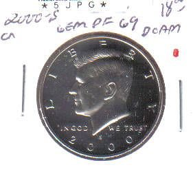 2000 S  PROOF  KENNEDY HALF DOLLAR