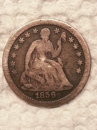 1856-O Seated Liberty Half Dime