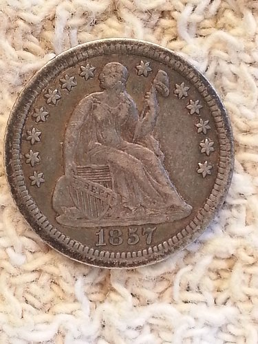 1857-O Seated Liberty Half Dime
