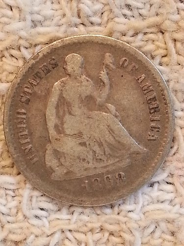 1868-S Seated Liberty Half Dime