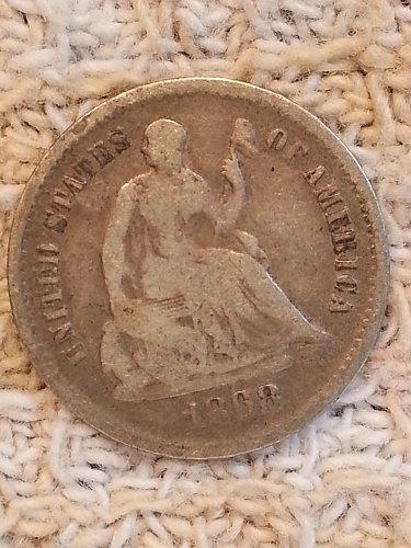 1868-S Seated Liberty Half Dime