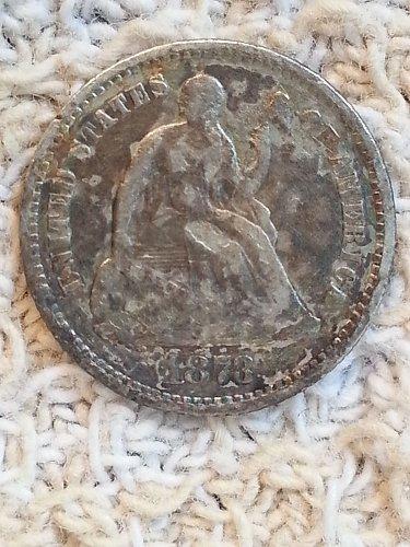 1873 Seated Liberty Half Dime