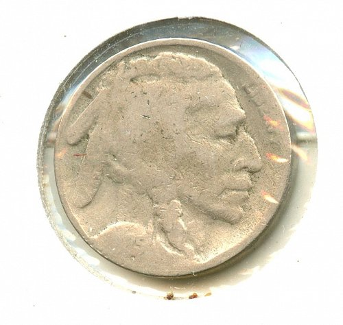 1925 S 2 feathers Buffalo Nickel G