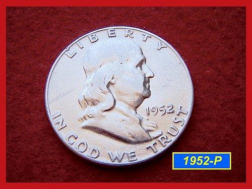 1952-P  Franklin Half Dollar –––  (#1465)