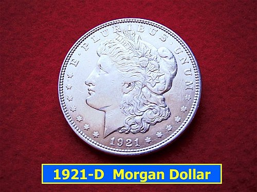 1921-D Morgan Silver Dollar   (#5113)