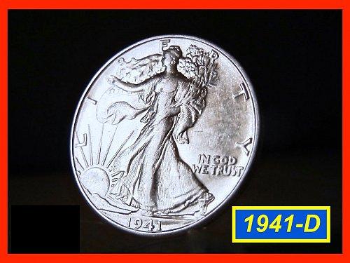 "1941-D  Liberty Walking Half  – ""AU""   (#1324)"