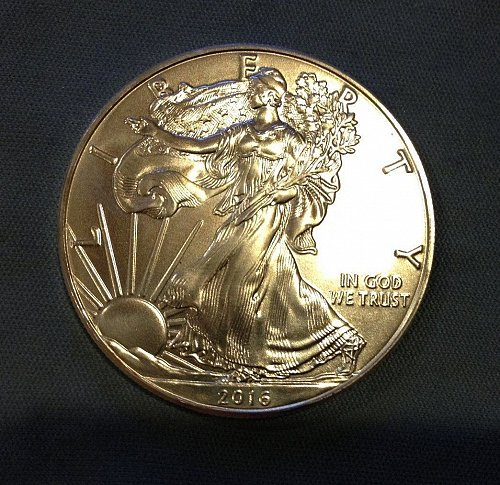 2016 1 oz Silver American Eagle BU. Lowest on USA Coinbook.
