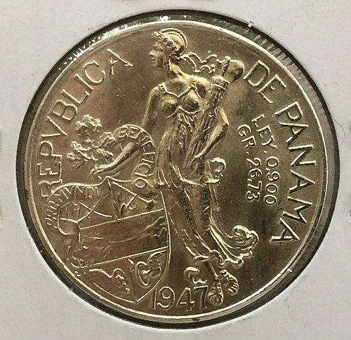 1947 Panama Balboa .900 Silver