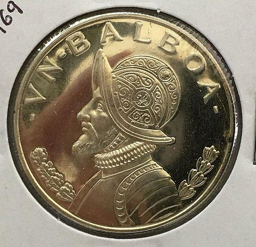 1969 Panama Balboa .900 Silver - Proof