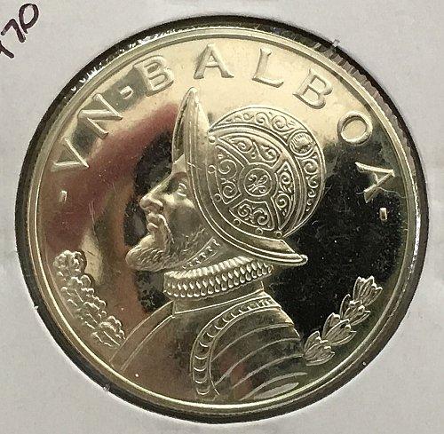 1970 Panama Balboa .900 Silver - Proof