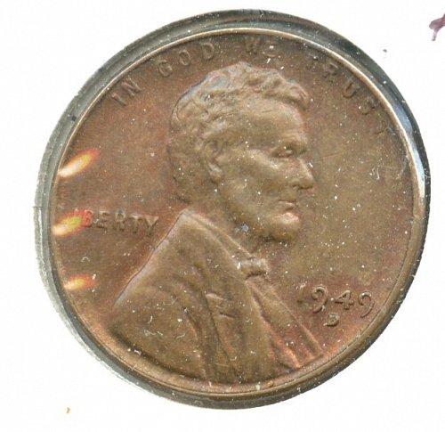 1949 D/S Lincoln cent AU bronze Denver