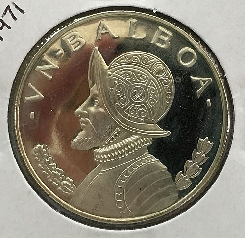 1971 Panama Balboa .900 Silver - Proof