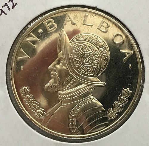 1972 Panama Balboa .900 Silver - Proof