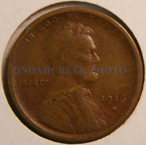 1916-S Lincoln Cent Choice VF
