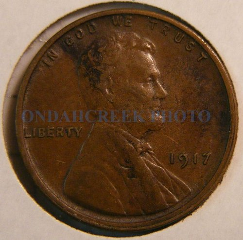 1917 Lincoln Cent Choice XF with errors