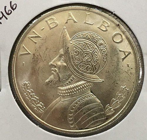 1966 Panama Balboa .900 Silver