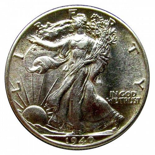1940 Walking Liberty Half Dollar - BU