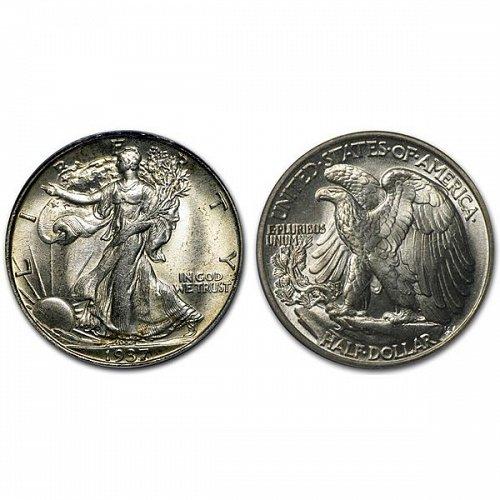 1937 Walking Liberty Half Dollar - BU