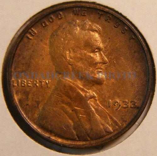 1933 Lincoln Cent AU