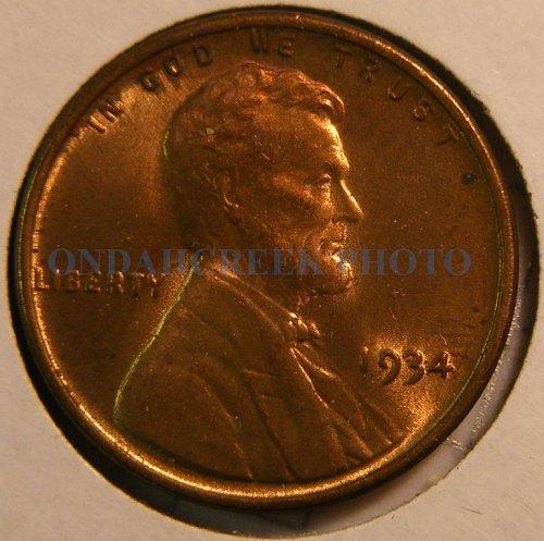 1934 Lincoln Cent BU